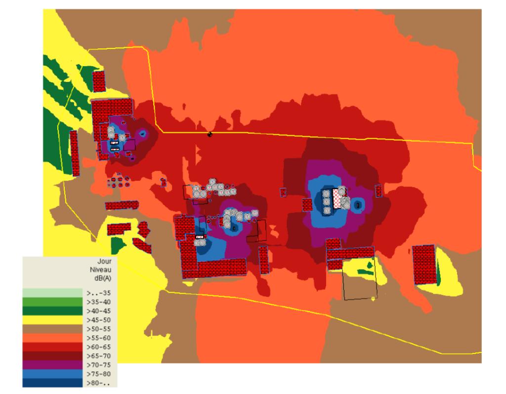 Carte de bruit simulée