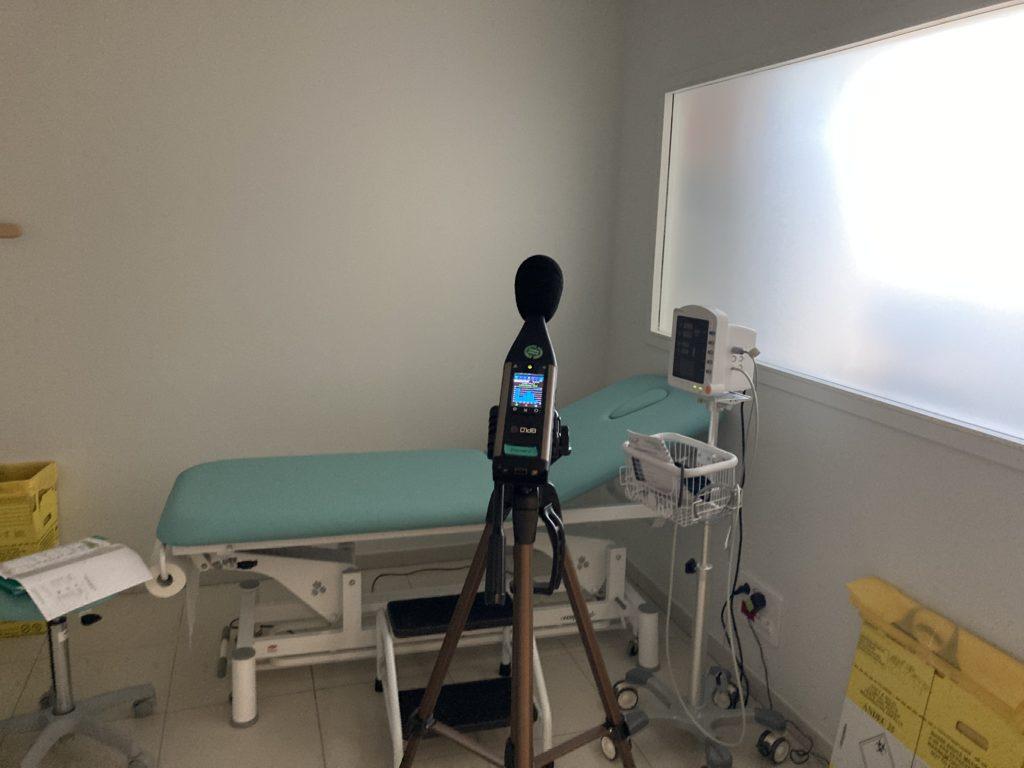 étude acoustique bâtiment centre médical
